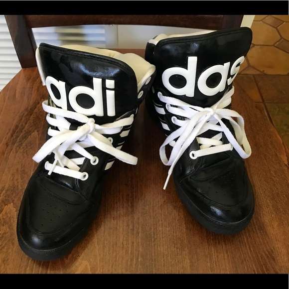 low priced 4c074 b4654 adidas Other - Adidas by Jeremy Scott high tops